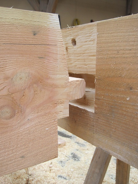 Castle Ring Oak Frame timber frame tenon