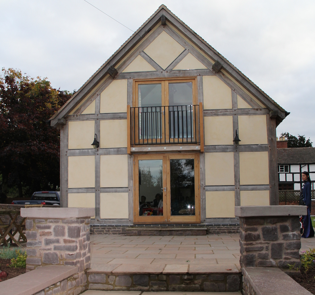 extension half timbered oak frame