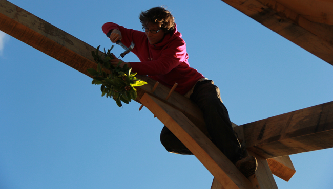Topping Out - Oak Frame