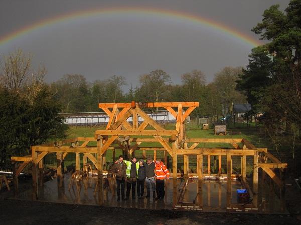 Castle Ring Oak Frame Cart shed