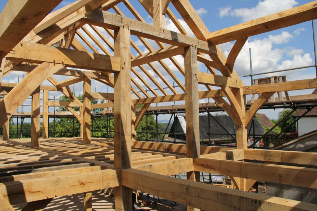 Replacement dwelling Worcestershire by Castle Ring Oak Frame