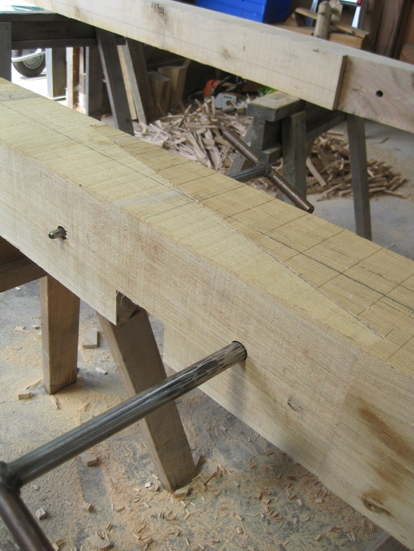 Purlins timber frame Castle Ring Oak Frame