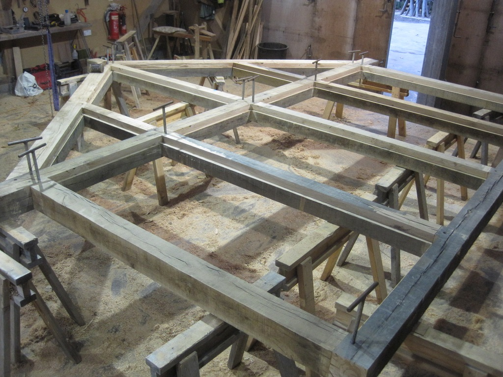 Oak Frame Gable by Castle Ring Oak Frame
