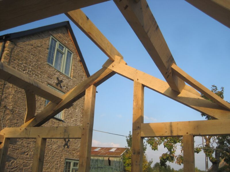 timberframe ridge stabilised with cleats