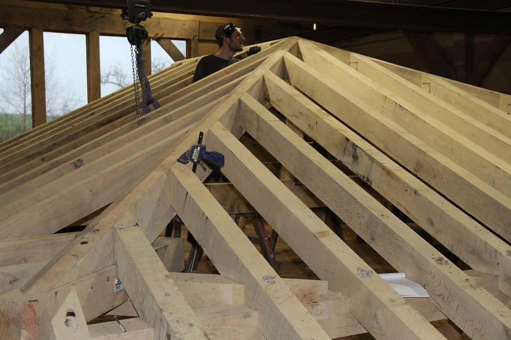 Jowl Post Our Oak Frame Blog Building A Roof Under A Roof