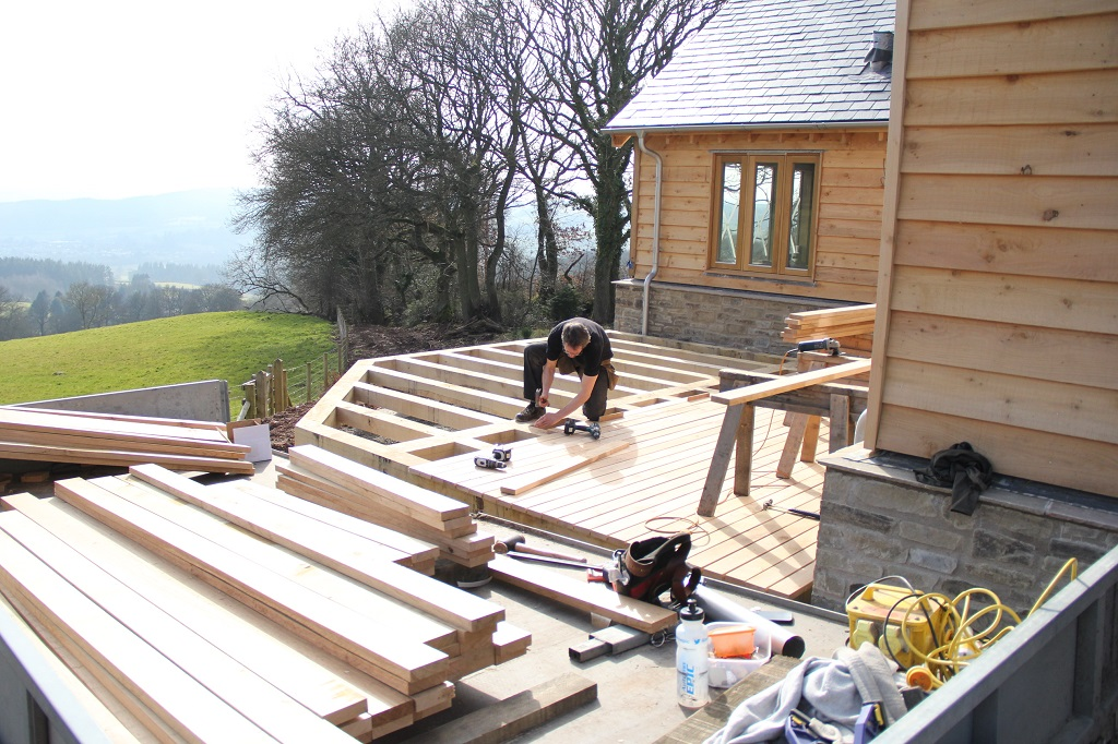 Decking oak framed house Presteigne