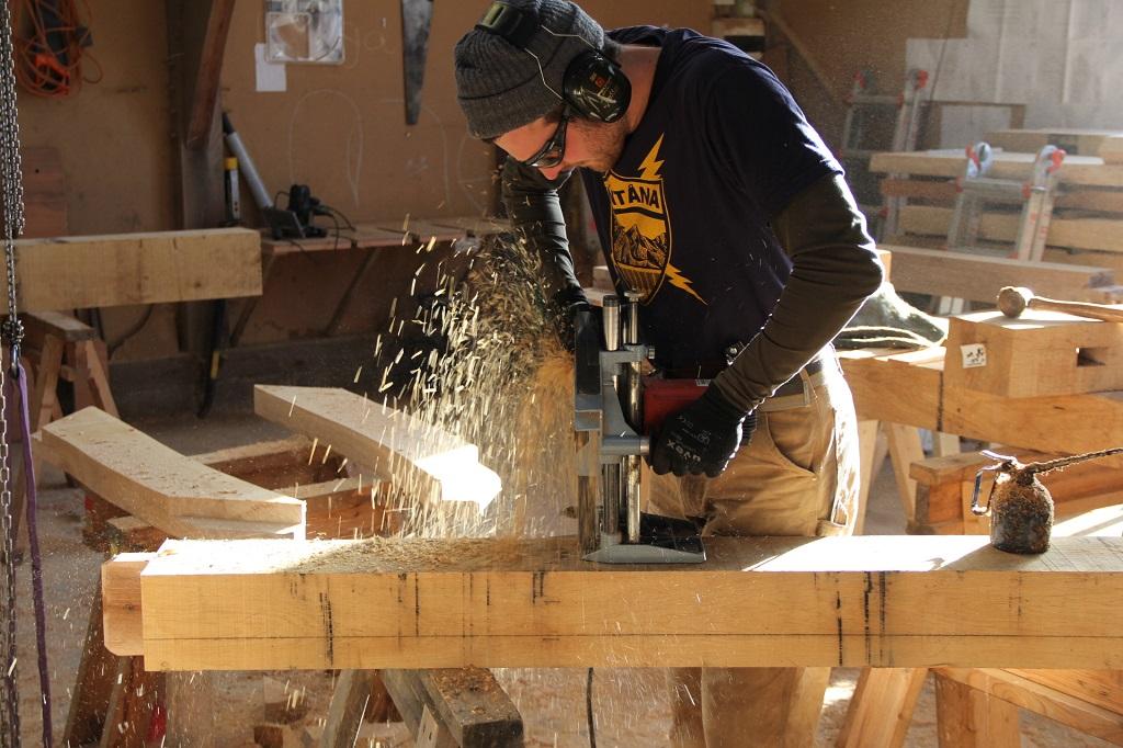Oak frame timber
