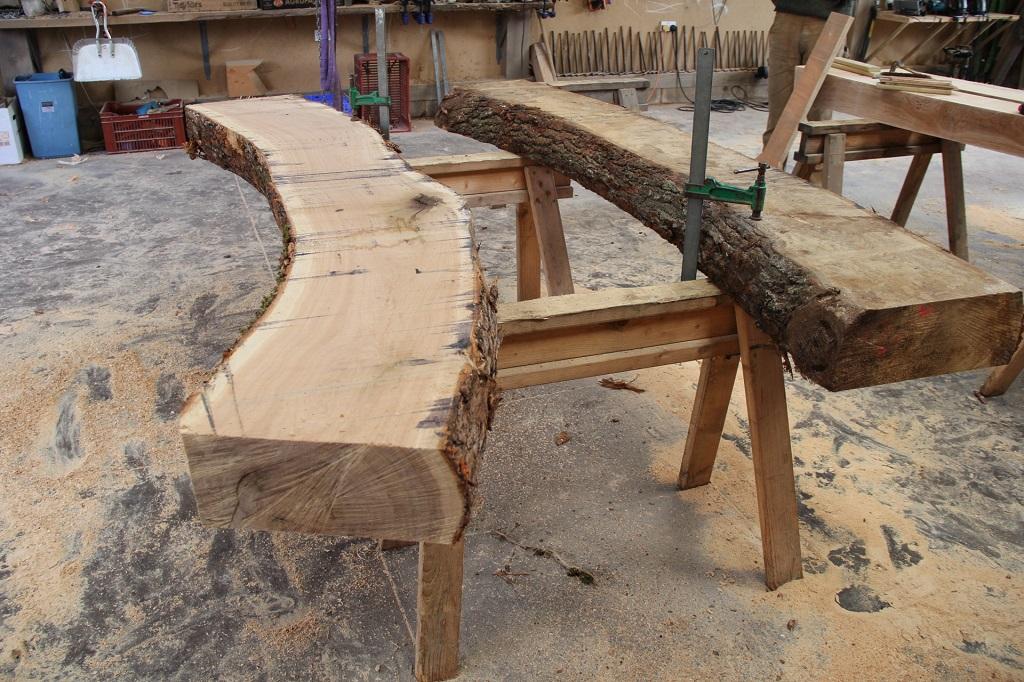 bark and sap wood timber frame