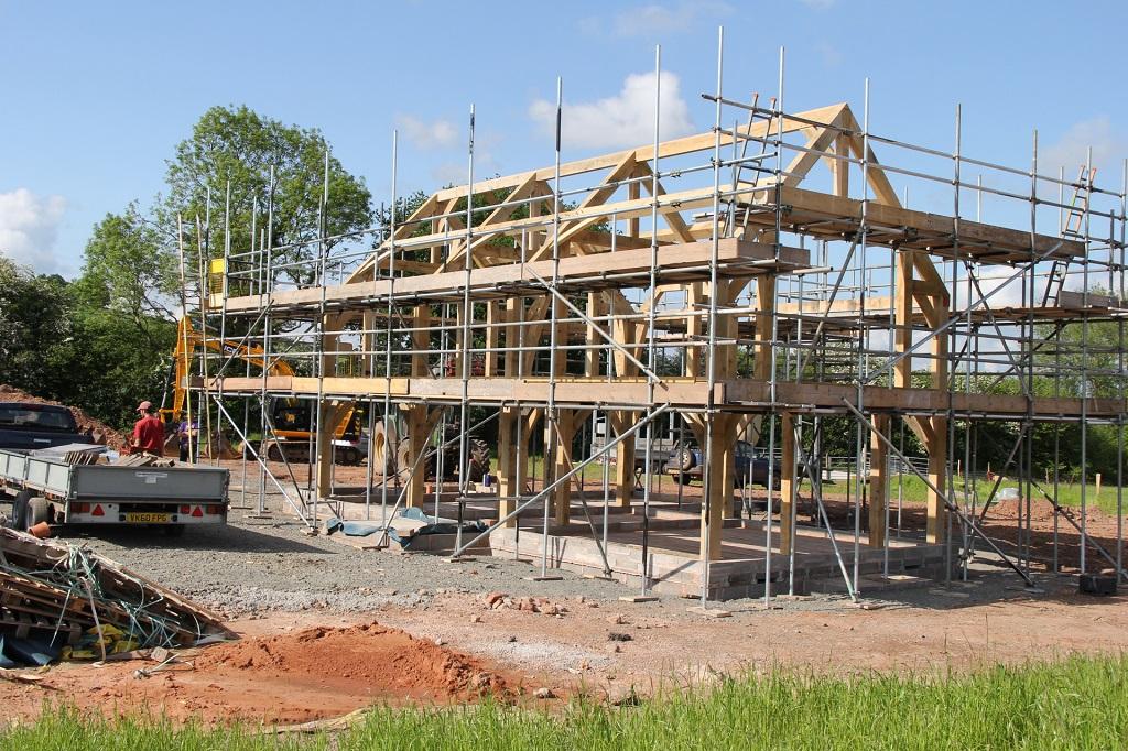 Oak frame house
