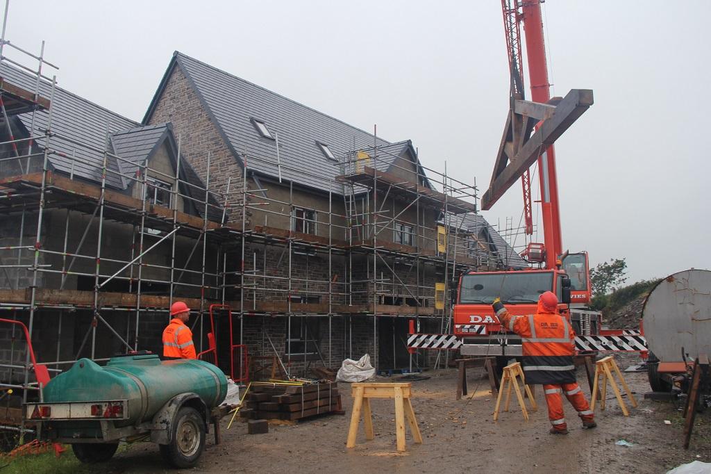Swansea oak frame raising