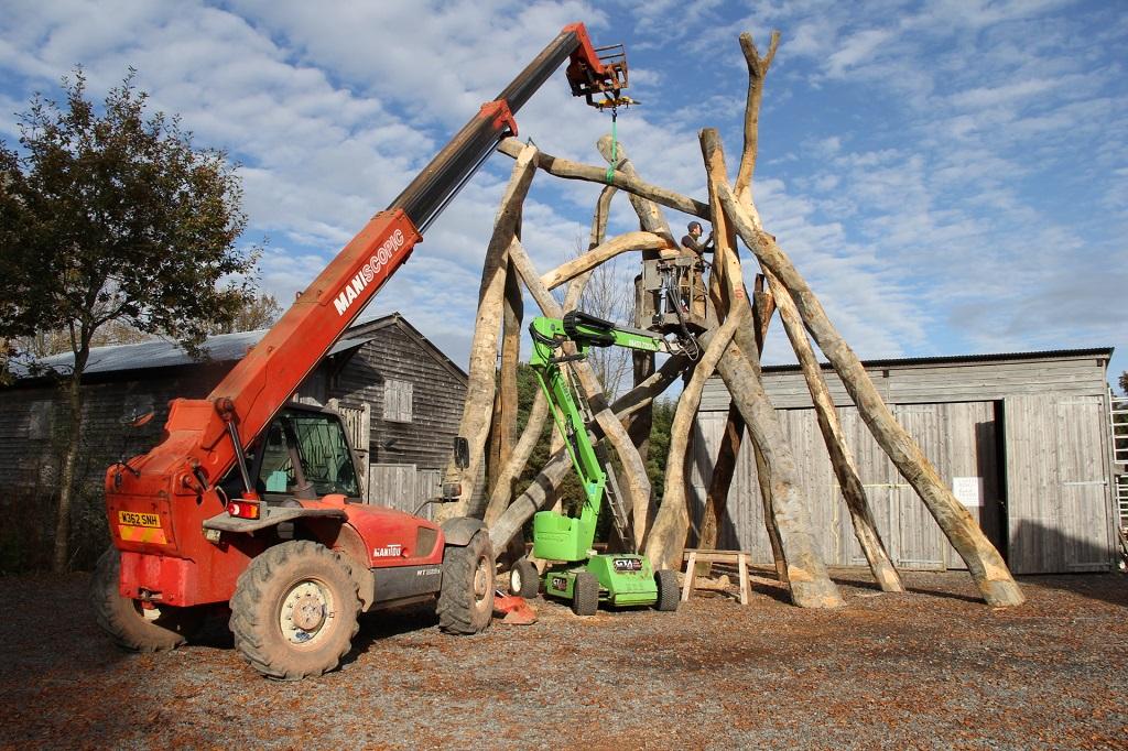The Bronze House sculpture wood
