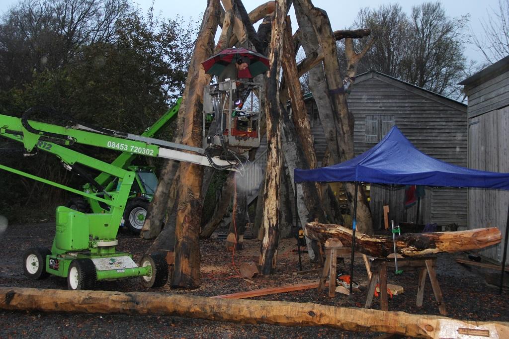 Castle Ring Oak Frame chestnut timber