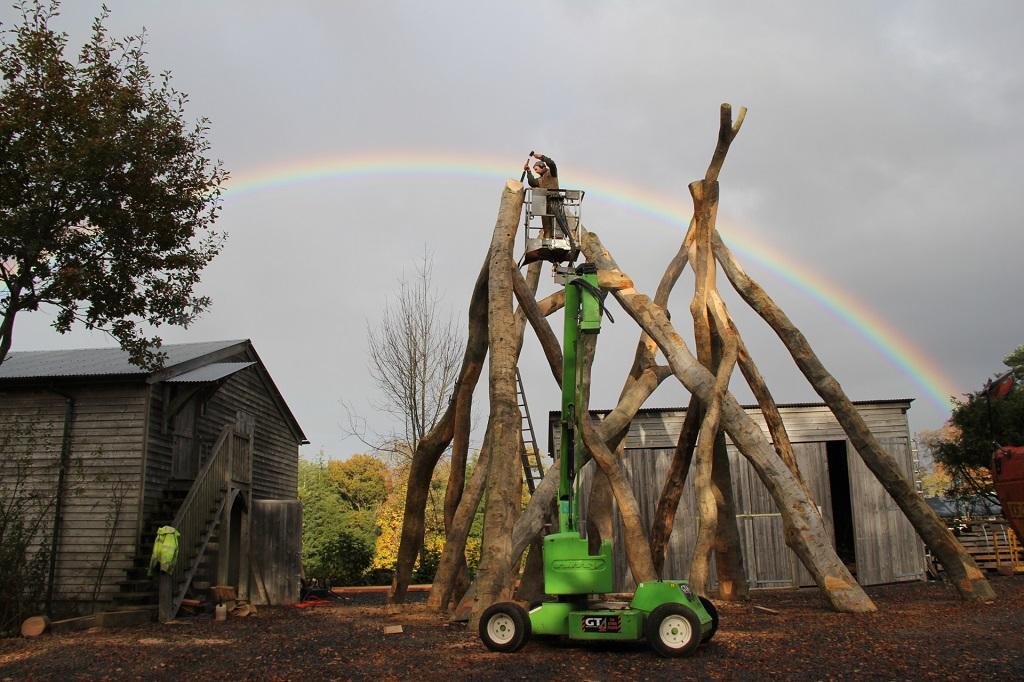 Oak frame workshop