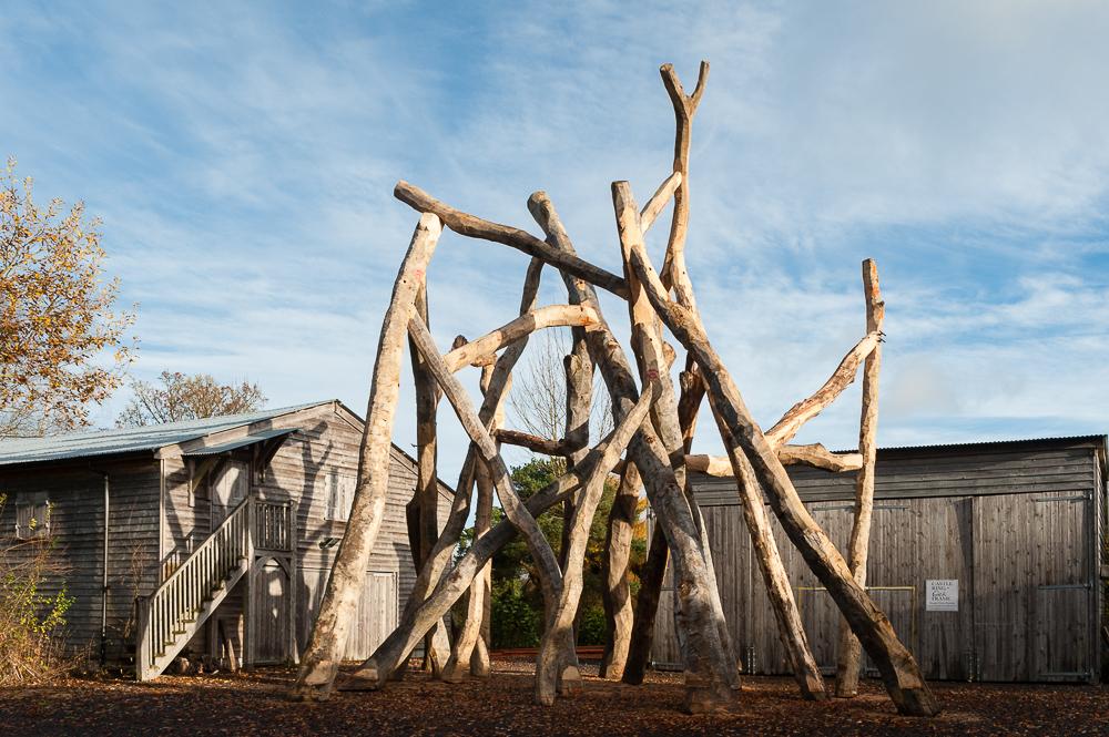 Outside of the comfort zone castle ring oak frame for Two story farmhouse oak park