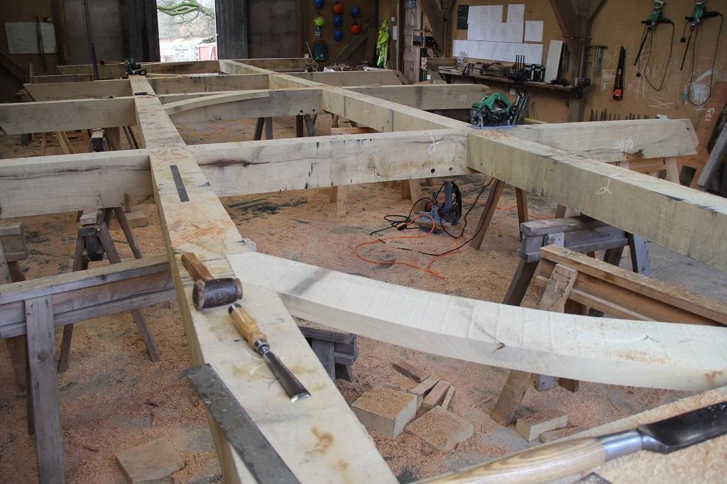 Castle Ring Oak Frame workshop Presteigne