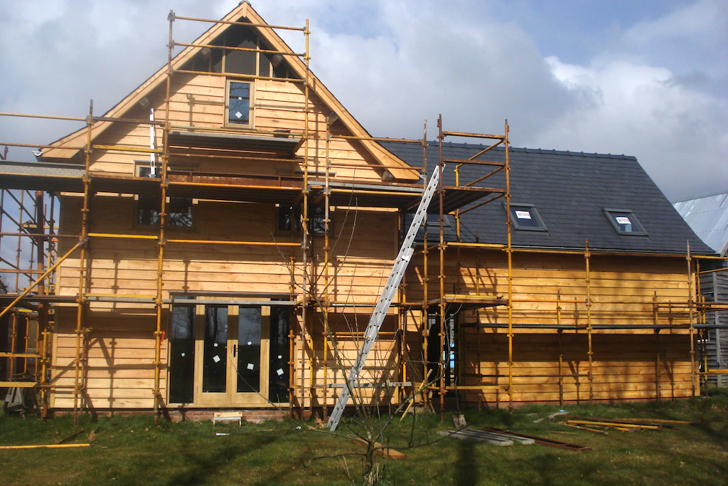 Finishing Off Timber frame oak framed house