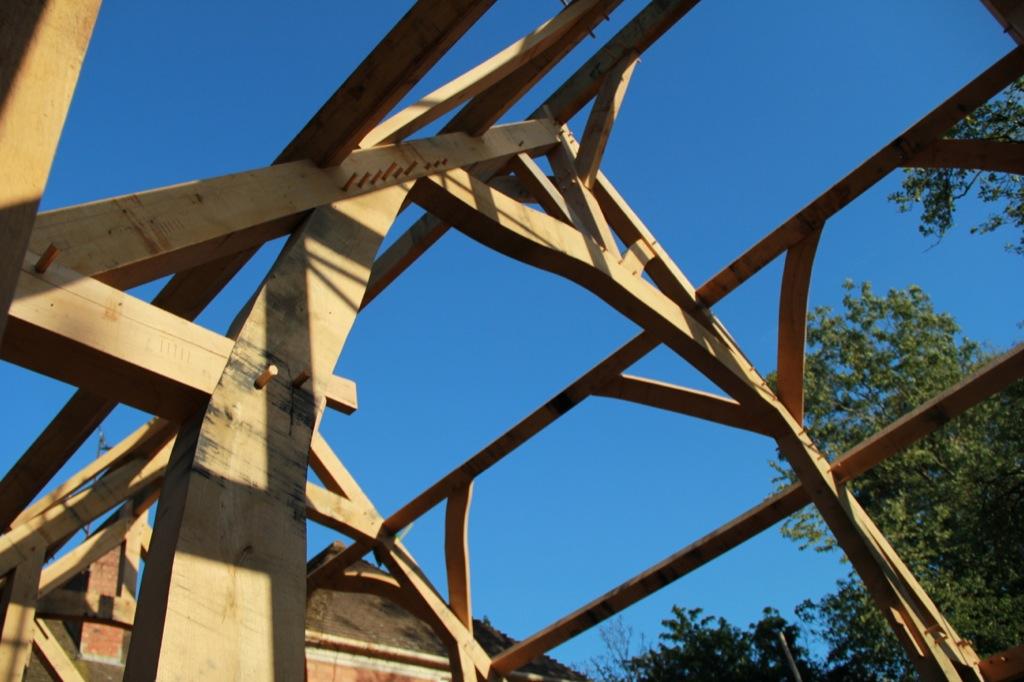 Oak framed extension Castle Ring Oak Frame