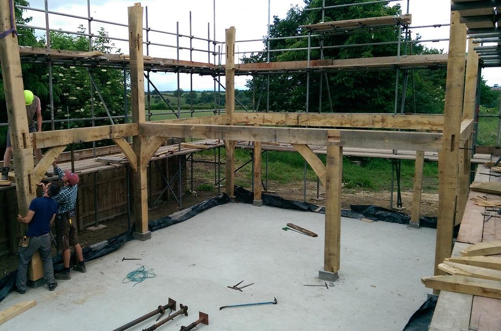Self build oak frame
