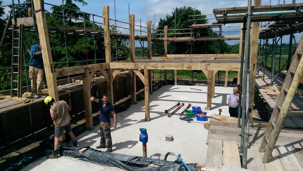 Self build oak timber frame