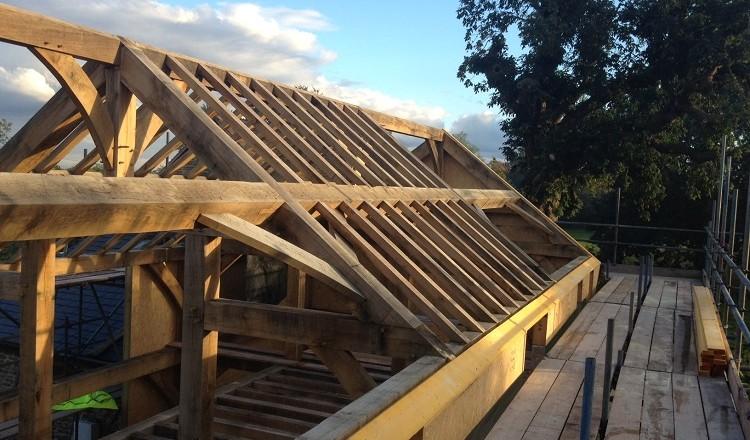 oak frame SIPs dry shell