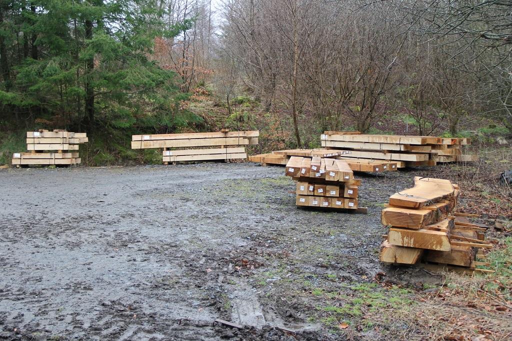 oak for timber frame house