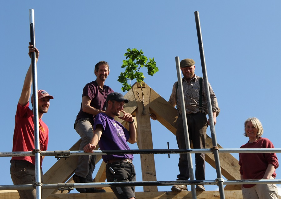 Topping Out Timber Frame tradition