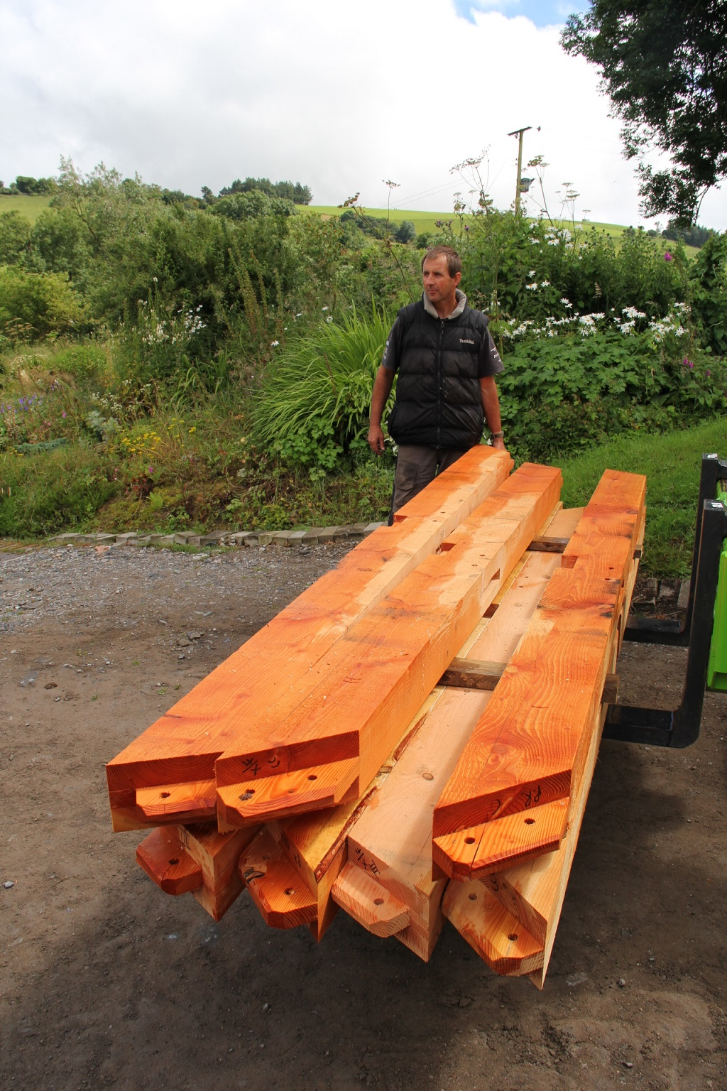Douglas fir for timberframe house