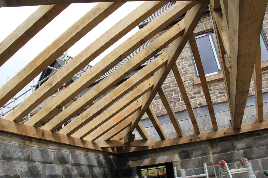 Swansea Oak Framed Hipped Roof By Castle Ring Oak Frame