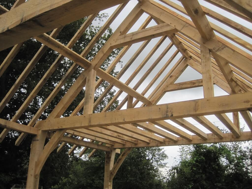 oak timber frame barn