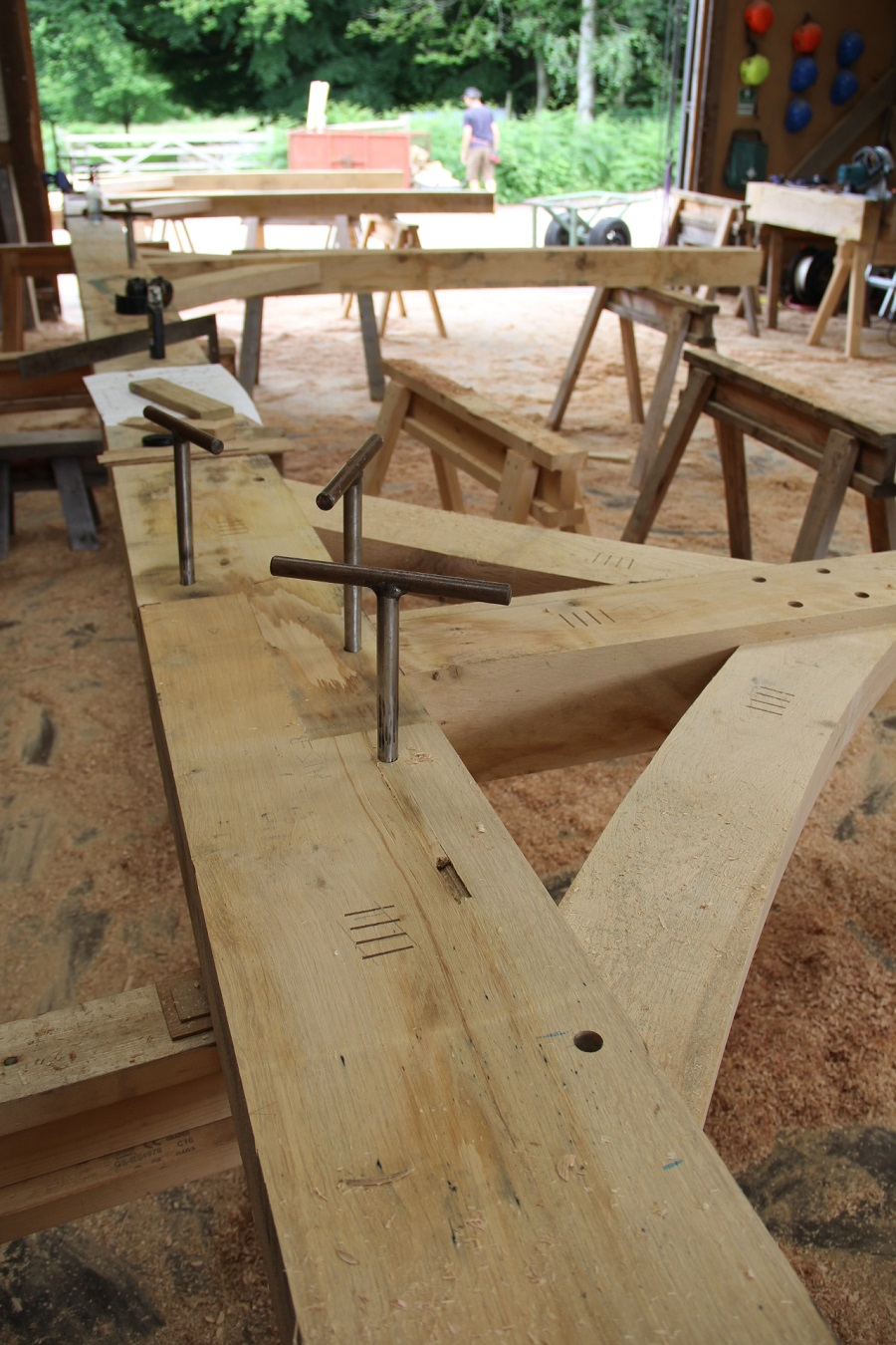 timber frame oak frame workshop