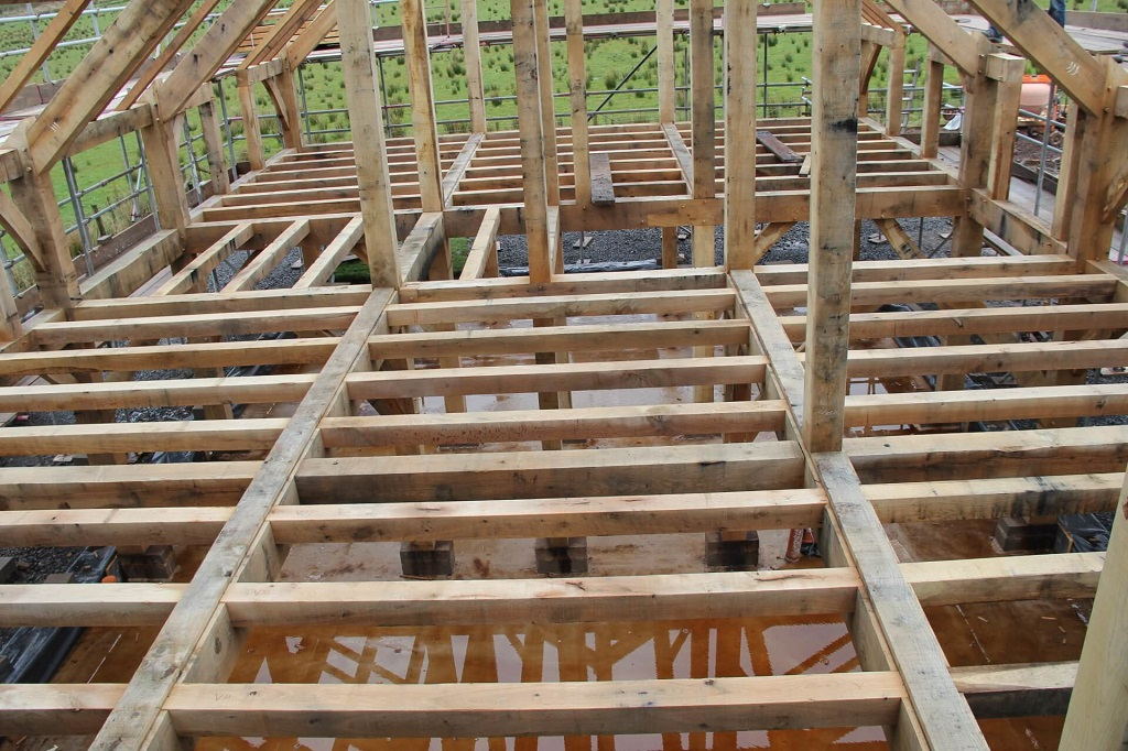 Oak floor joists