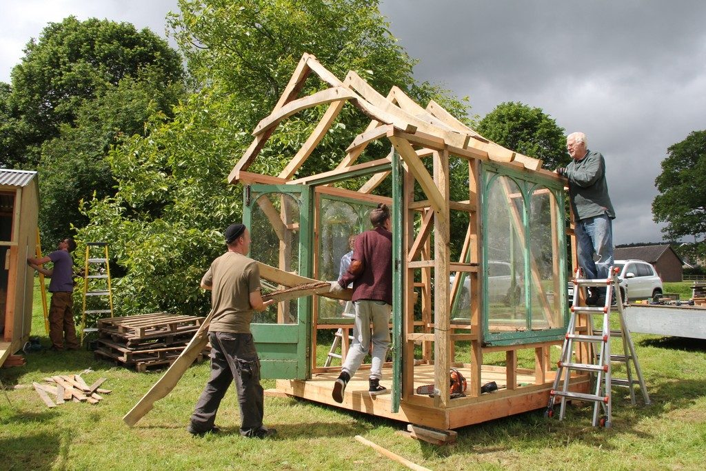 Castle Ring Oak Frame shed