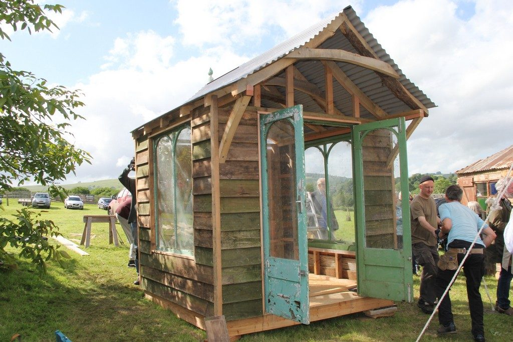 Oak frame shed