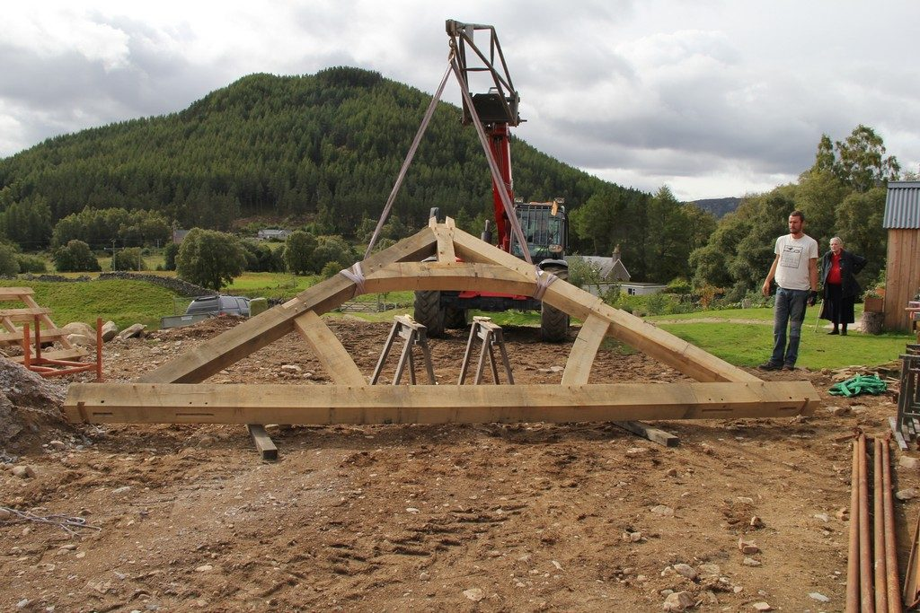 Scotland oak frame house
