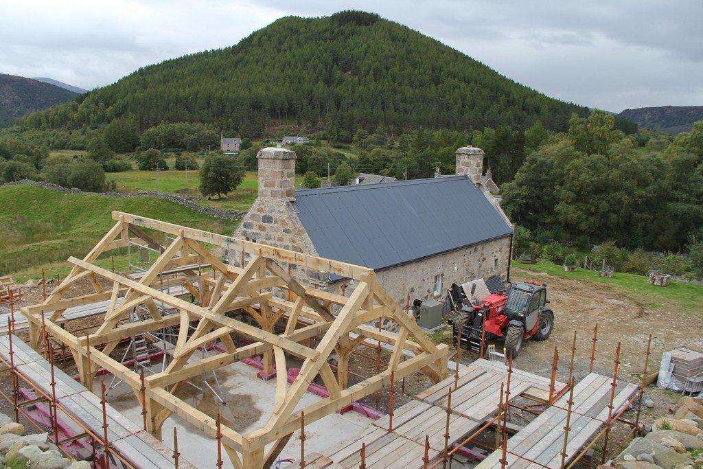 oak framed house extension