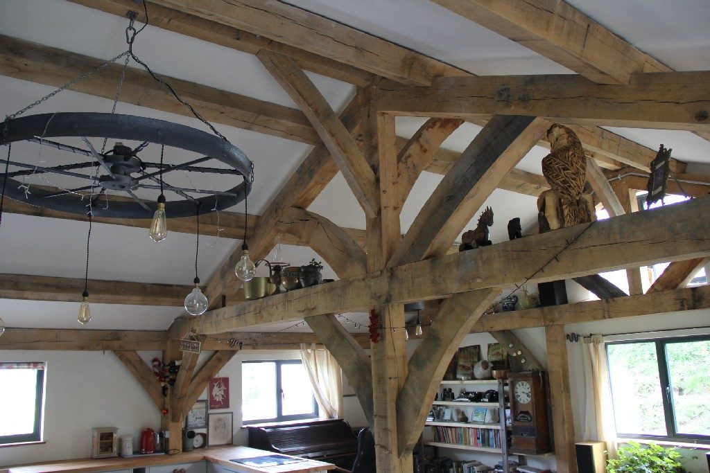 Oak framed house