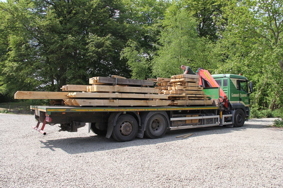 Timber Frame transport