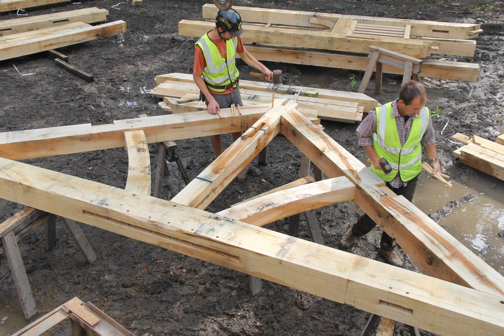oak frame truss