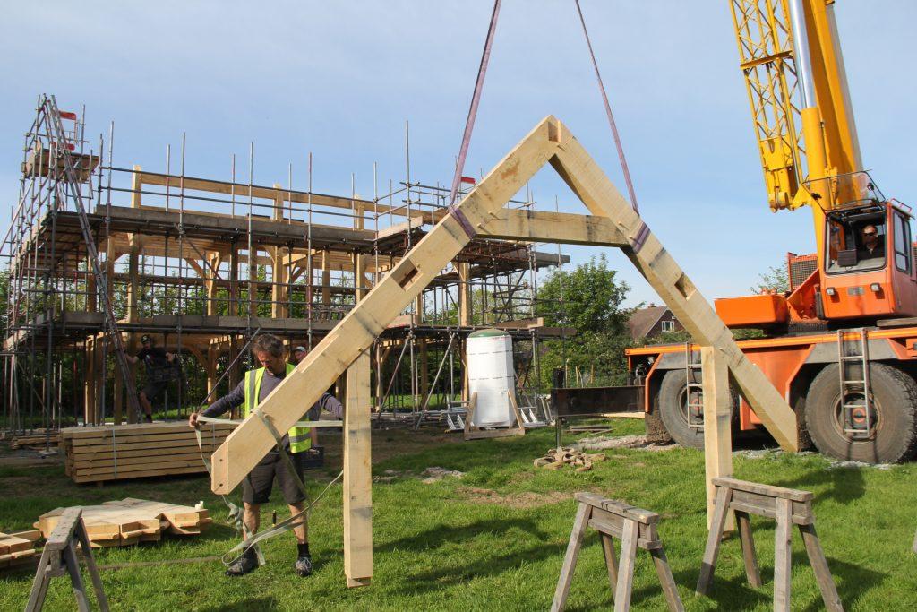 Oak truss timberframe