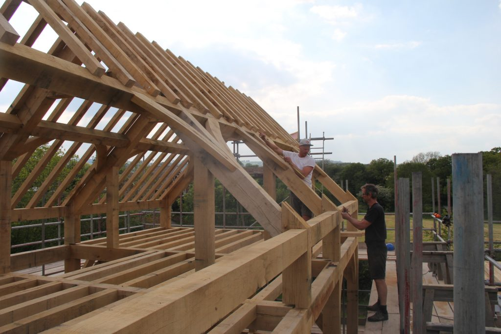 Castle Ring Oak Frame rafters