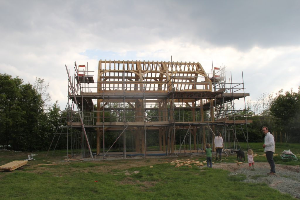 Oak house frame