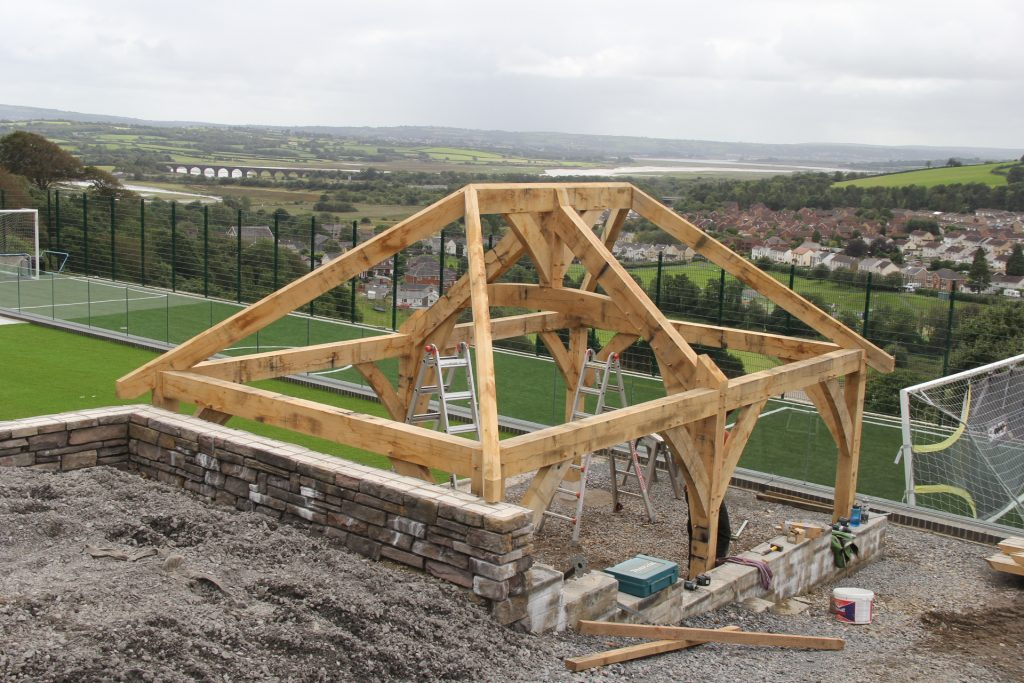 Oak timber frame Wales